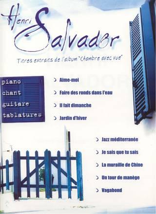 Partitions Salvador Henri Extraits De Chambre Avec Vue Ma 3548