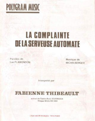la complainte de la serveuse automate
